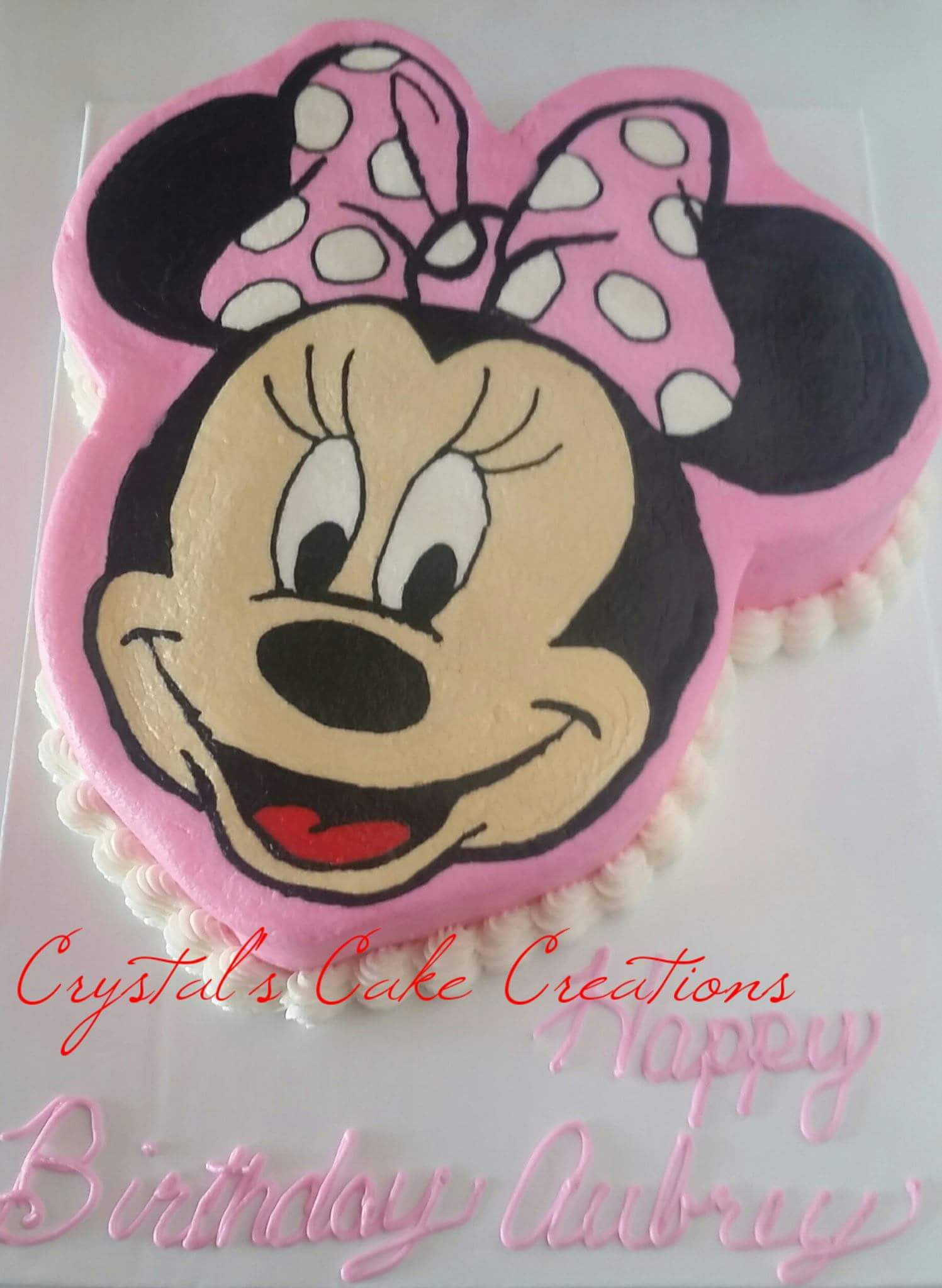 Buttercream Minnie Mouse Birthday
