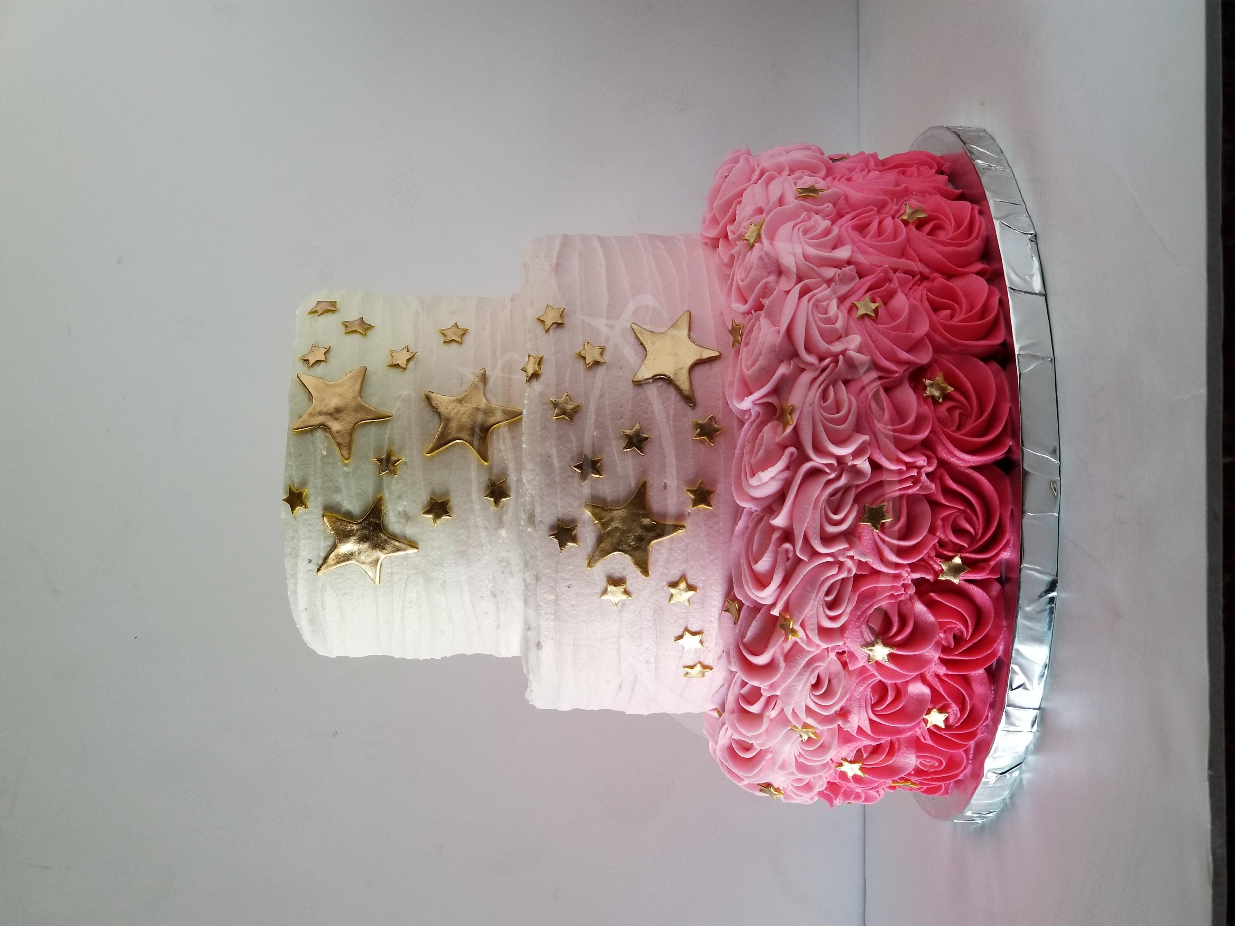pinkombrerossettecake