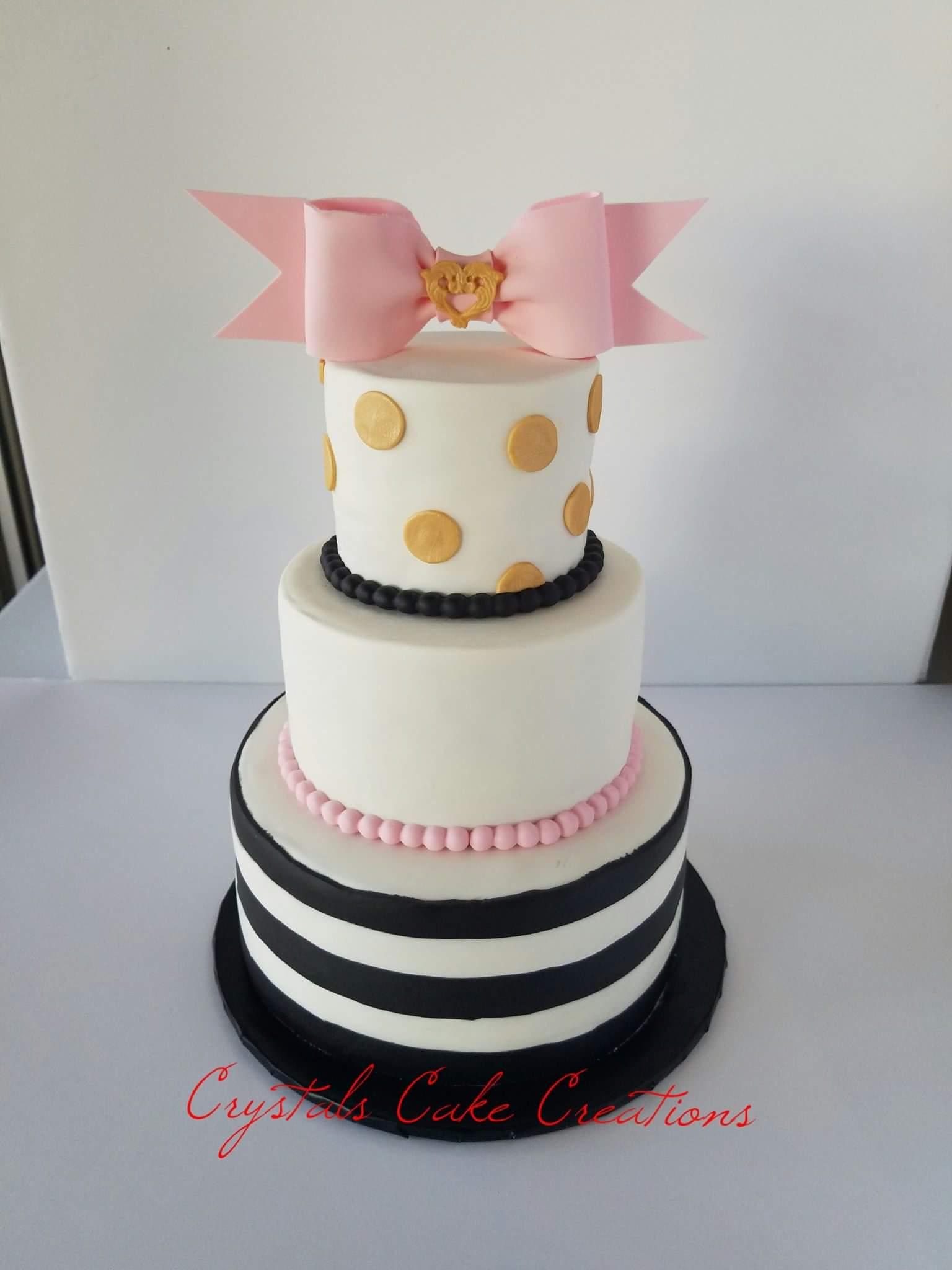 Kate Spade Baby shower cake