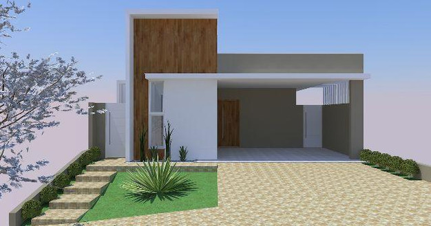 8 modelos de fachadas de casas projetos e plantas de for Modelo de fachada de casa
