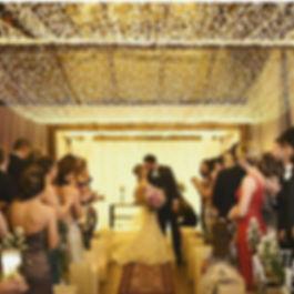 O maior charme da Nuvem de LED em casamentos e festas