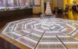 Foto Piso Cristal Octogonal para casamentos e festas de 15 anos.