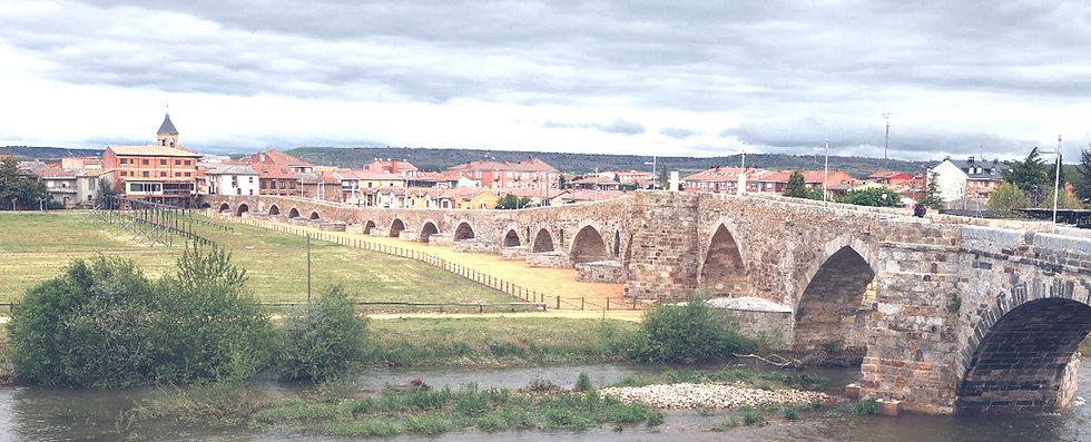 Medieval bridge over the river Orbigo, called Paso Honroso, Way of St_edited_edited.jpg