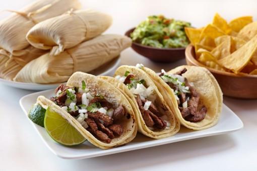 tortillas, tacos y tamal