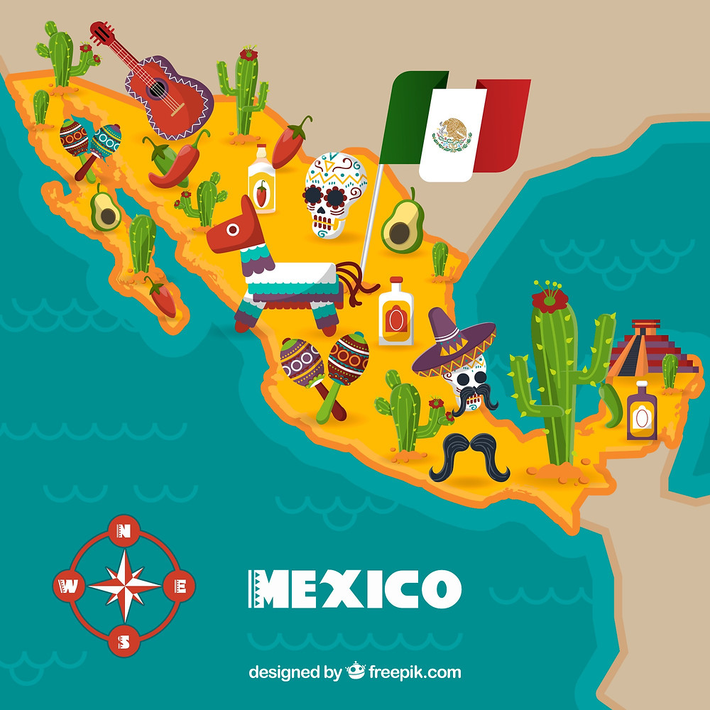 墨西哥地圖
