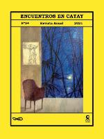 Cubierta revista anual Encuentros en Catay, 34, año 2021
