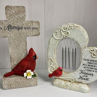 Cardinal Cross & Windchime Heart