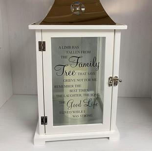 White Family Tree Lantern