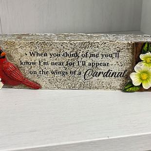 Small Cardinal Shelf Sitter
