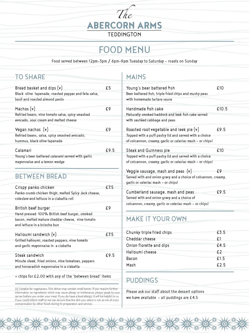 A4 Portrait Menu double sided A4MENU005_