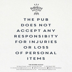 A4 Poster We Do not accept responsibilit
