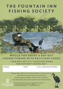Fountain Inn Plumpton Fishing Poster