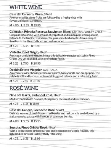 A5 folded booklet Wine Menu A5BOOKFOLDWI