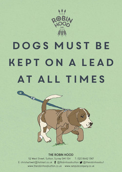 A4Dogs must be kept on a lead A4POSTER03