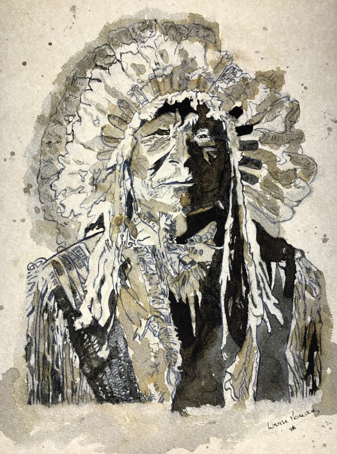 Hand drawn Ink art