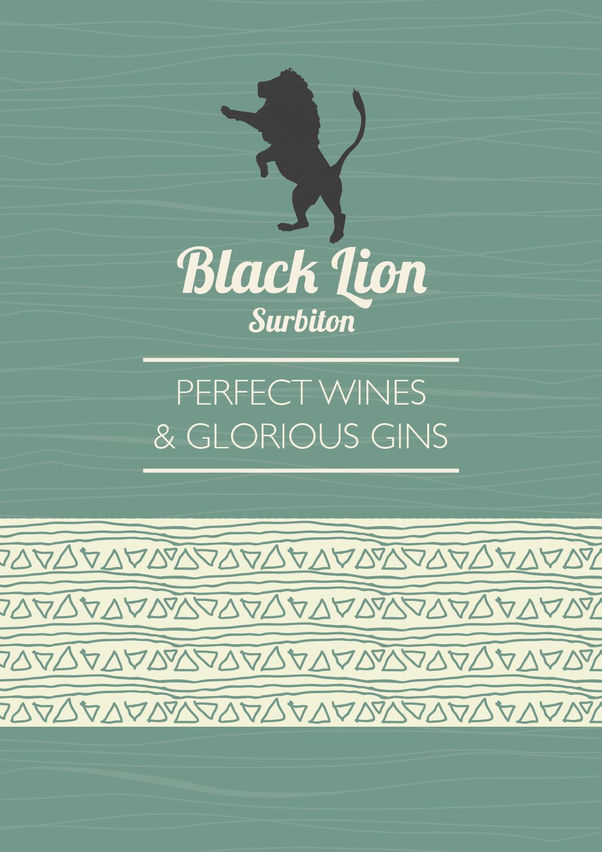 Black Lion A5 bookfold Wine _set up as A