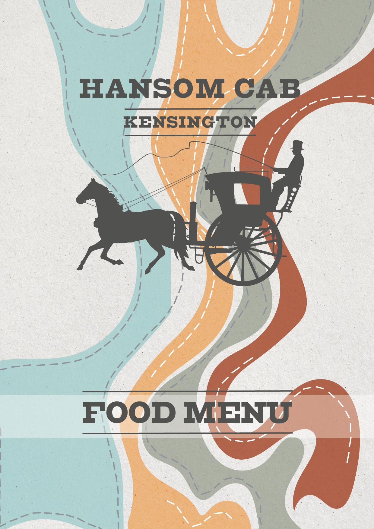 Hansom Cab Kensington A4 FOOD MENU2