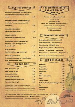 Fountain Inn  Plumpton menu 2 A4 portrai
