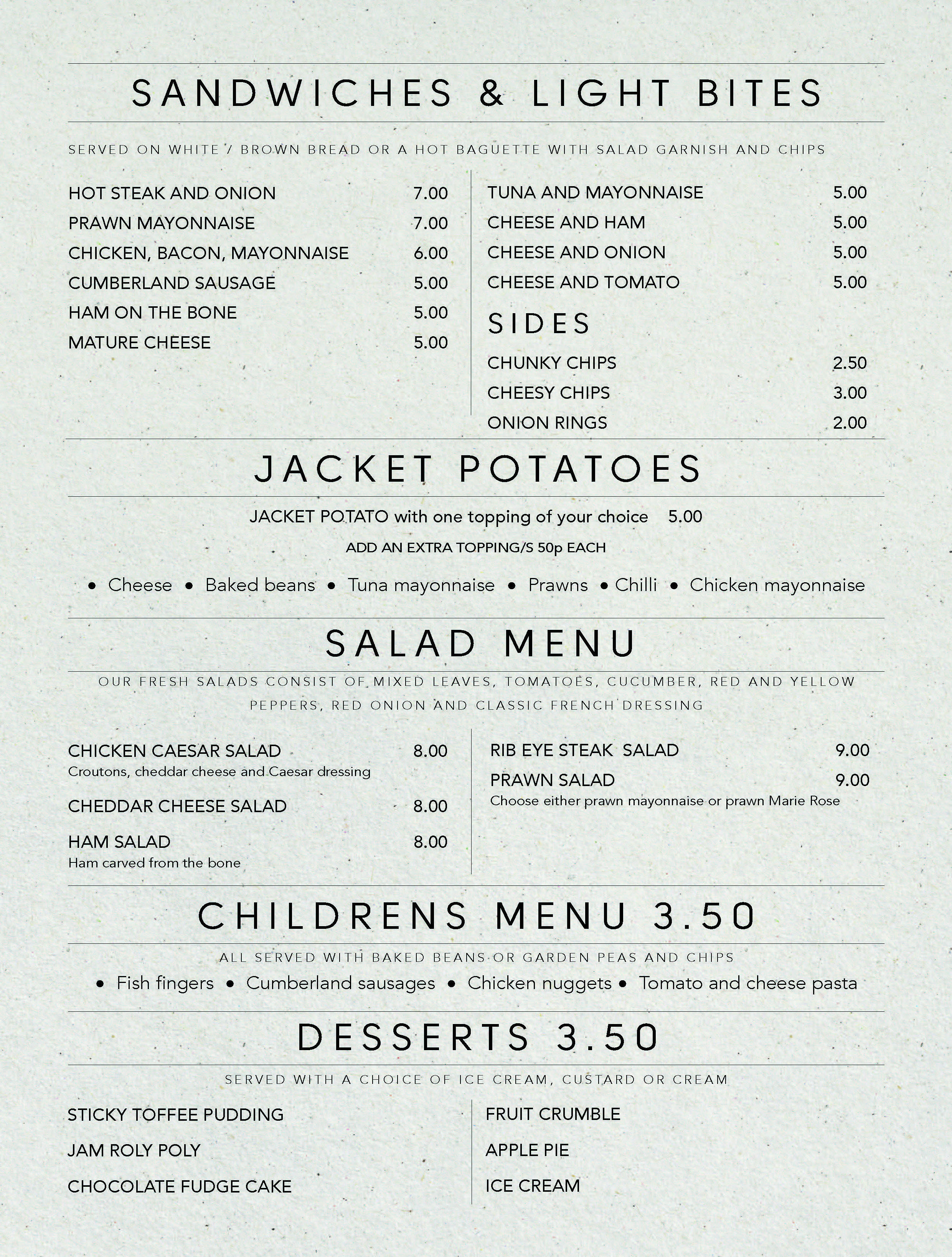 A4 Portrait Menu double sided A4MENU025_
