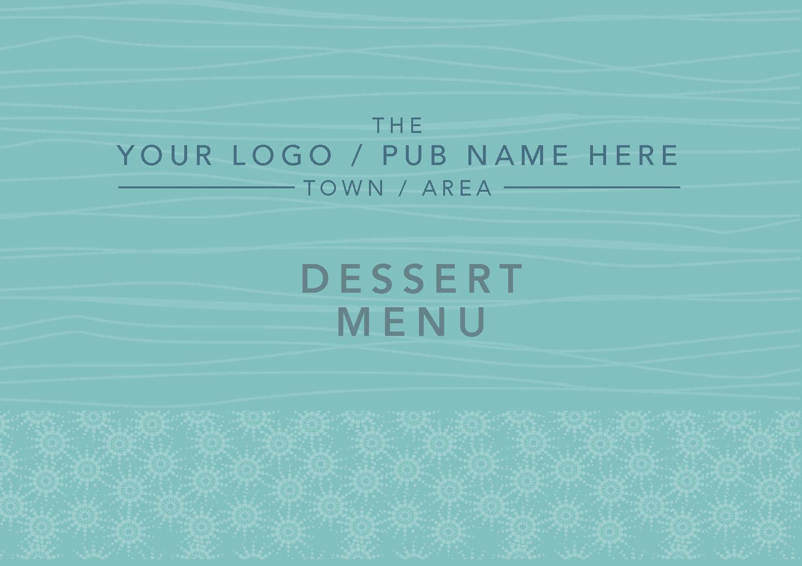 A5 Landscape Menu double sided A5MENU020
