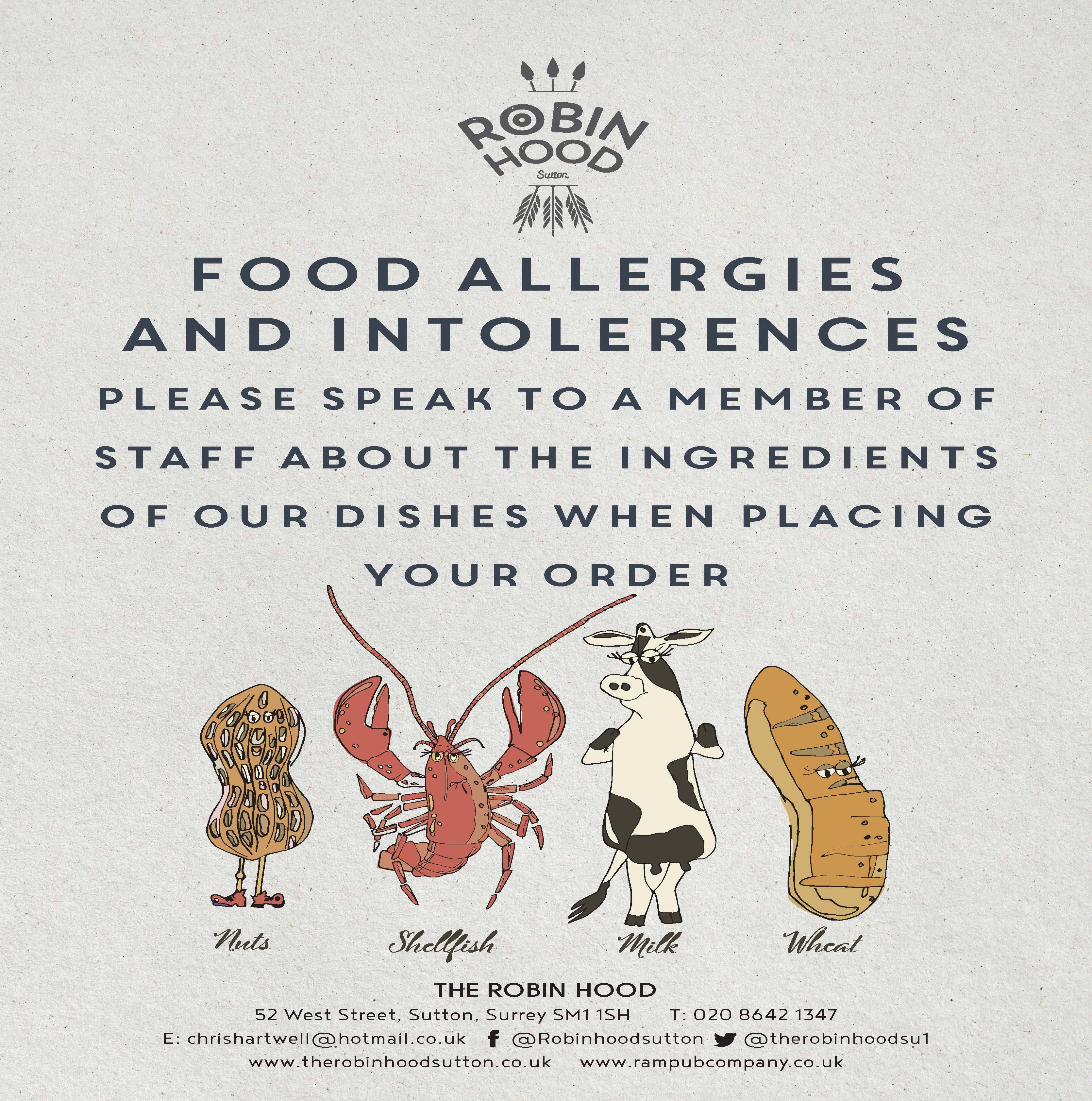 A4 Food allergen notice A4POSTER032