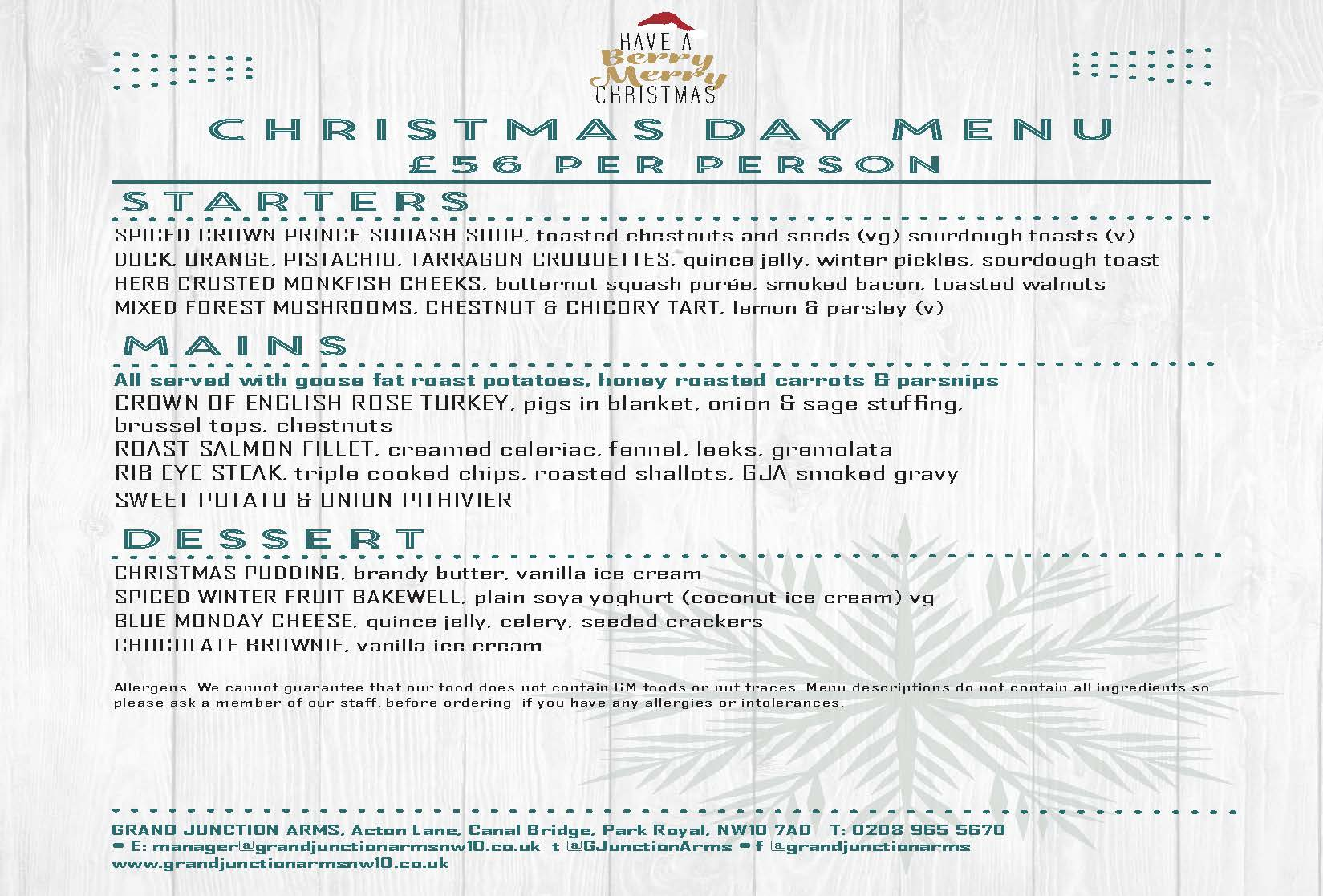 A4 double sided A4CHRISTMASDAYMENU055_Pa