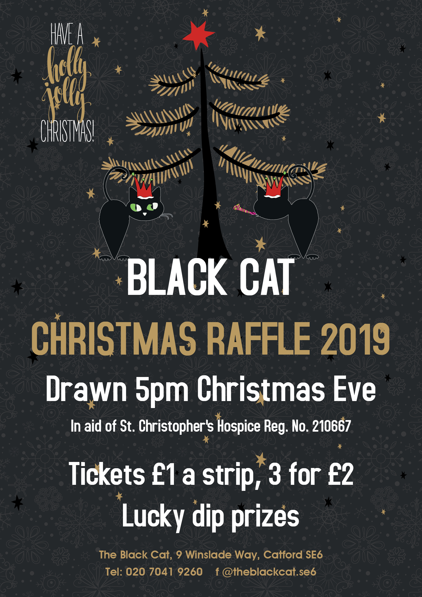 Black Ct Christmas Raffle Poster A3 2019