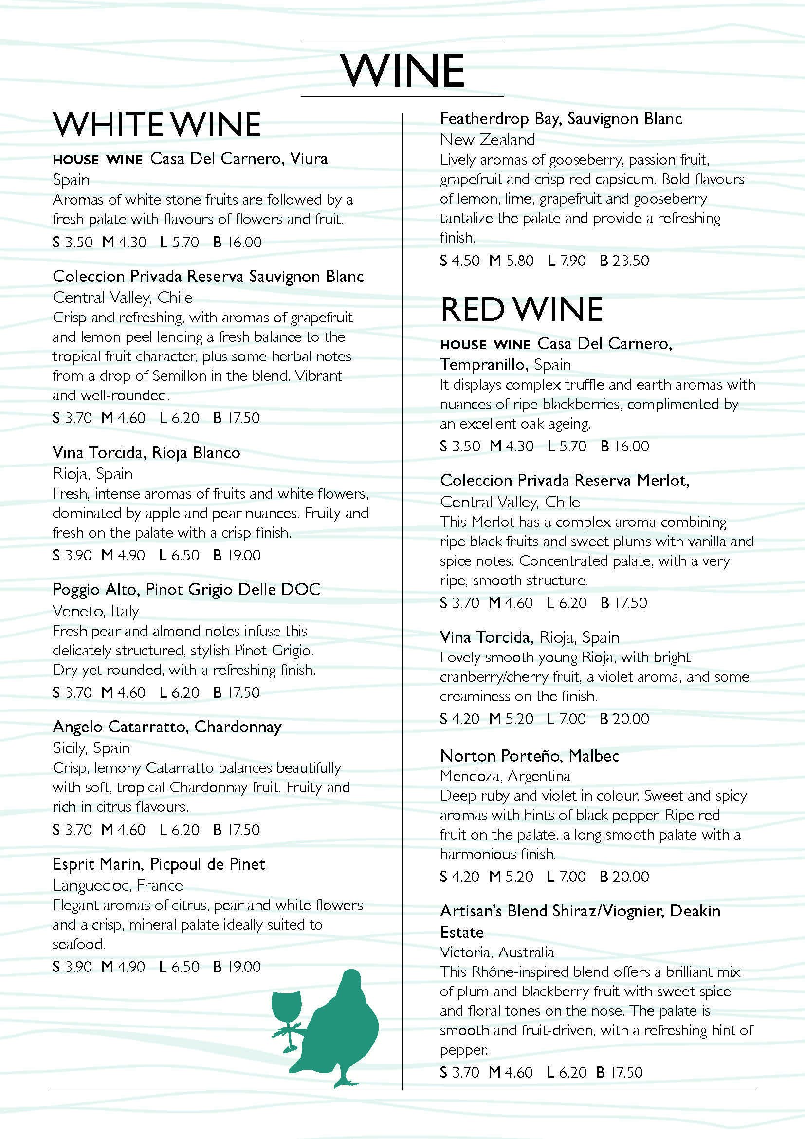 A5 bookfold Wine Menu A5BOOKFOLDWINE044_