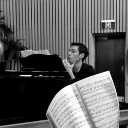 Patrick at piano