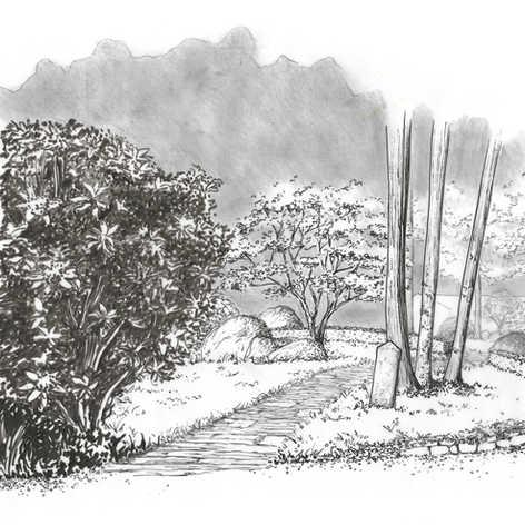 Réaménagement d'une promenade à travers les bois