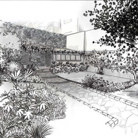 Rénovation d'un petit jardin de ville