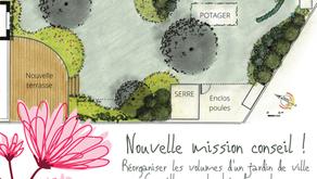 Nouvelle mission-conseil : établissement d'un plan d'organisation générale du jardin