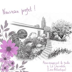 Nouveau projet : rénovation d'un jardin avec deux ambiances, à La Chevrolière (44)