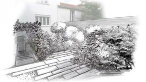 Nouveau projet de jardin en centre-ville