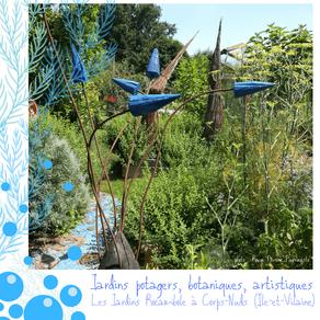 Un jardin éco-insolite qui porte bien son nom : les Jardins Rocambole (Corps-Nuds, Ille-et-Vilaine)
