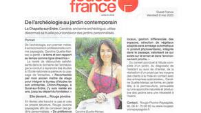 Rouge Pivoine Paysagiste dans Ouest France le 8 mai 2020