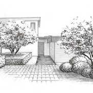 Aménagement d'une entrée de maison contemporaine