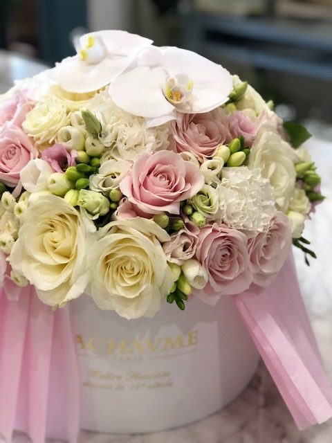 Coffret bouquet pastel