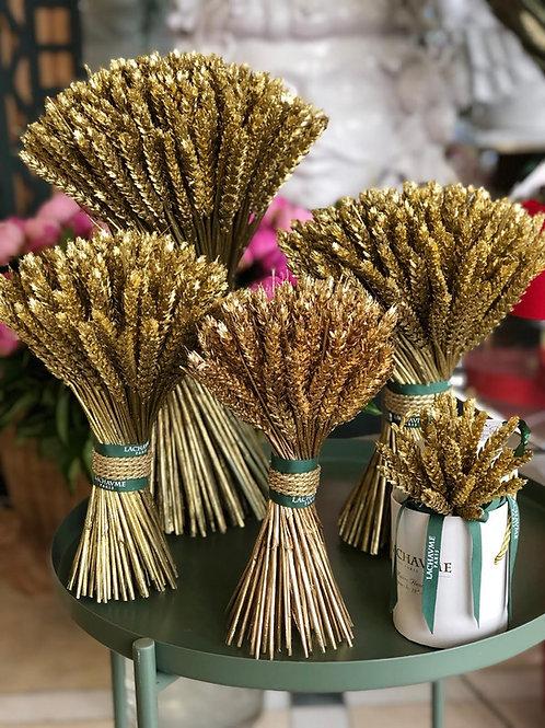 Le bouquet élégant de blé d'or Lachaume The elegance of golden wheat