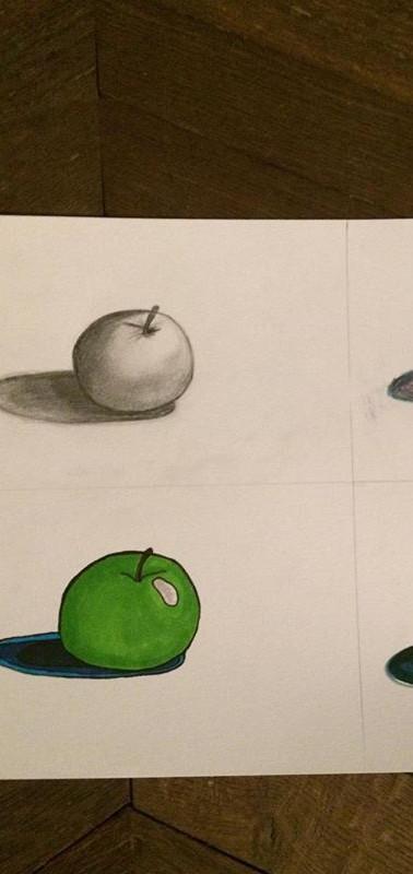 Illustration Pomme - Dessin 2017