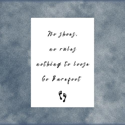 EMILY FAYE / 'Barefoot' / Song Lyric / A4 Print