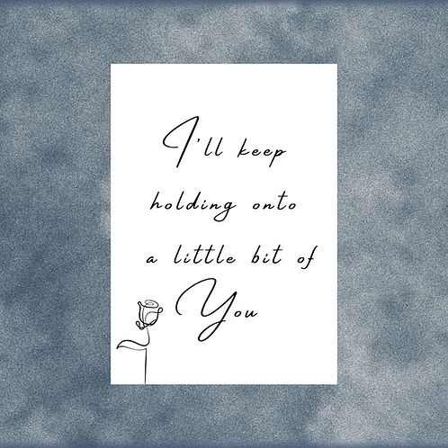 EMILY FAYE / 'Little Bit Of You' / Song Lyric / A4 Print