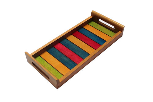 SERVING TRAY - COLOURED