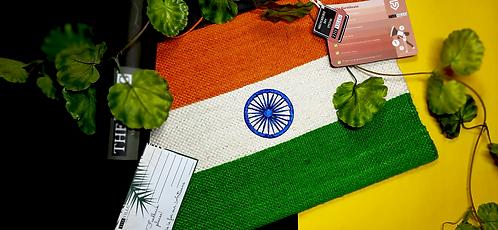 NATIONAL FLAG - PLAIN (JUTE)