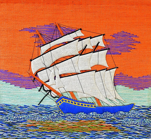 SHIP - JUTE WALL HANGING