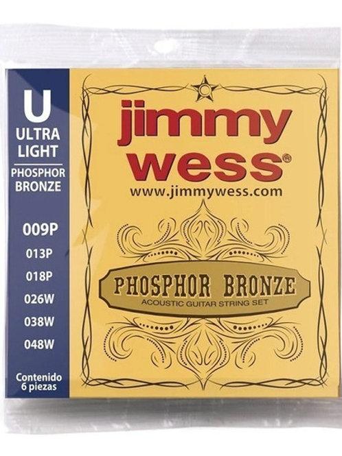 SET DE CUERDAS PARA GUITARRA ACUSTICA BRONCE 009P JWGA-809BF JIMMY WESS