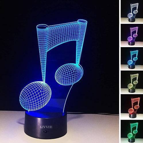 Lámpara con diseño de figura musical