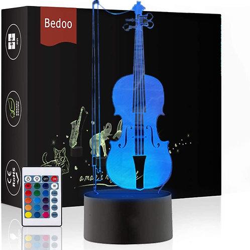 Lámpara con diseño de violín