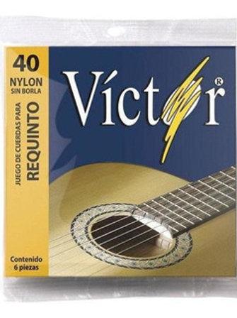 SET DE CUERDAS PARA REQUINTO 6 UNIDADES DE NYLON VCRE-40 <VICTOR>