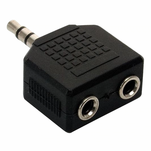 ADAPTADOR 1 PLUG 3.5 MM A 2 JACK 3.5 MM A-130 GB0142